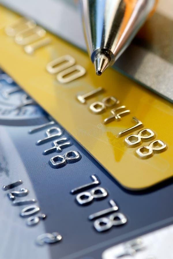 Creditcardachtergrond royalty-vrije stock foto's