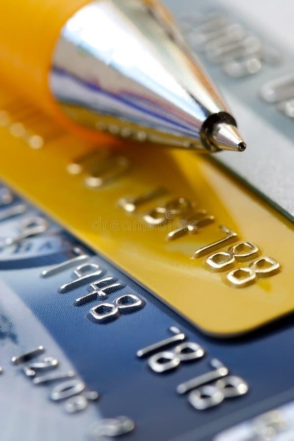 Creditcardachtergrond stock fotografie