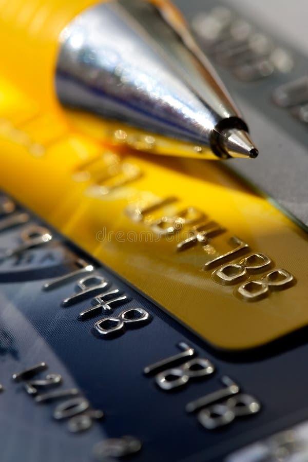 Creditcardachtergrond royalty-vrije stock afbeelding