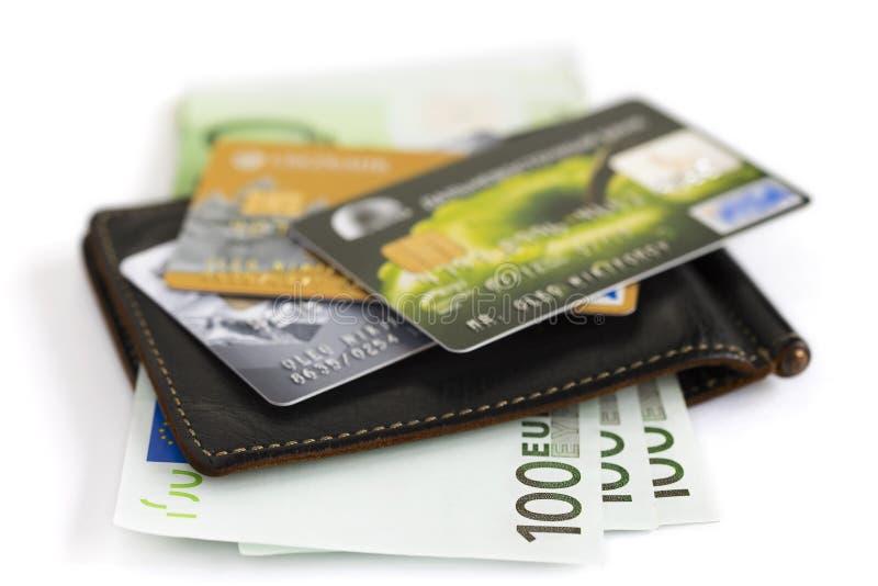 Creditcardclose-up stock afbeeldingen