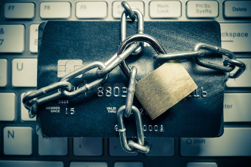 Creditcardgegevensbescherming stock foto's