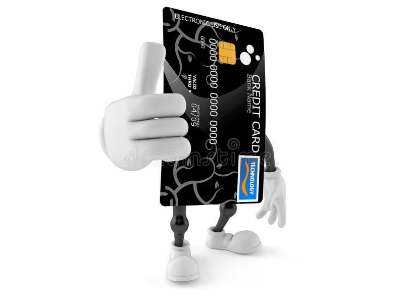 Creditcardkarakter met omhoog duimen vector illustratie