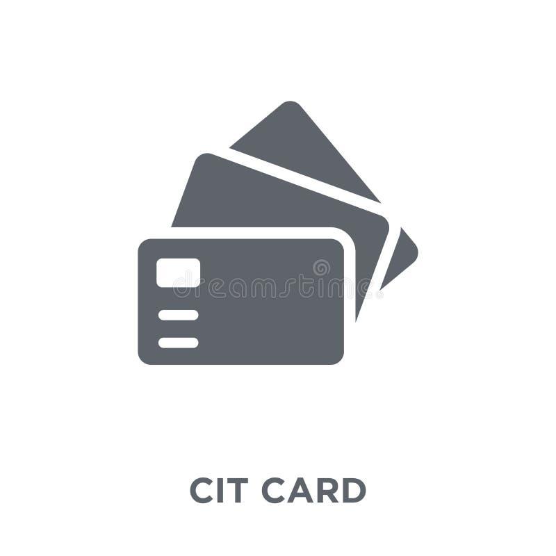 Creditcardpictogram van inzameling stock illustratie