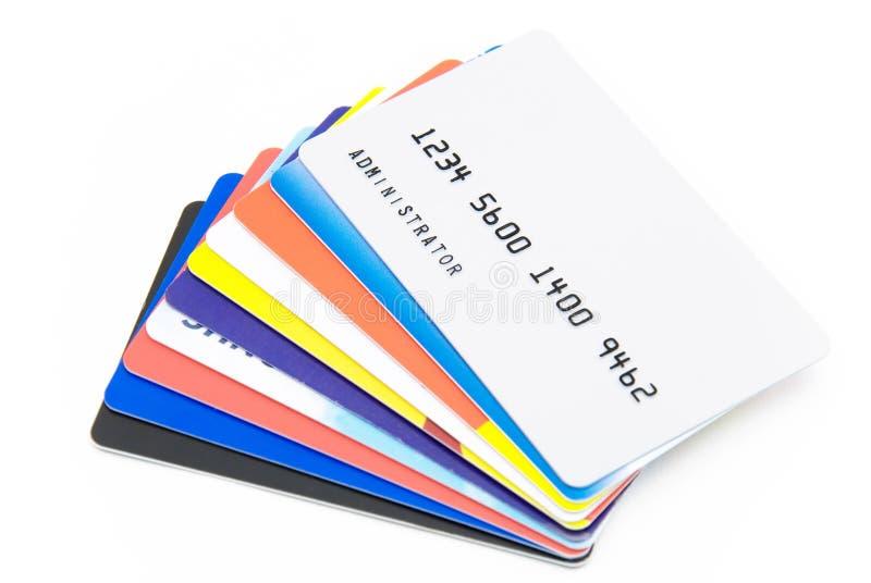 Creditcards stock foto