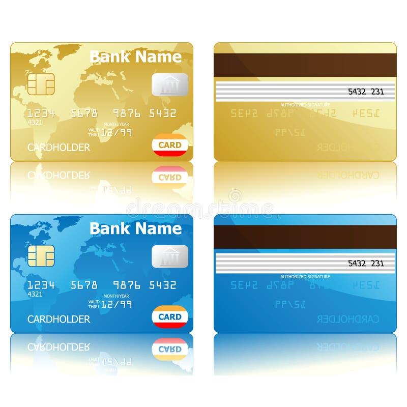 Creditcards royalty-vrije illustratie