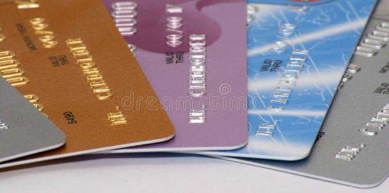 Creditcards royalty-vrije stock foto