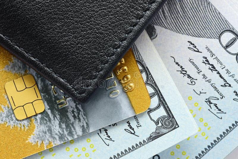 Creditcardsclose-up royalty-vrije stock afbeelding