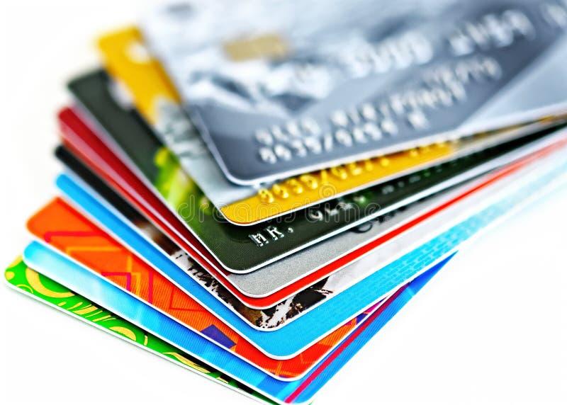 Creditcardsclose-up stock fotografie