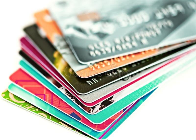 Creditcardsclose-up stock afbeelding
