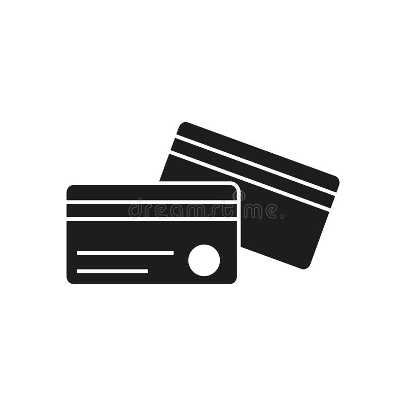 Creditcardspictogrammen royalty-vrije illustratie