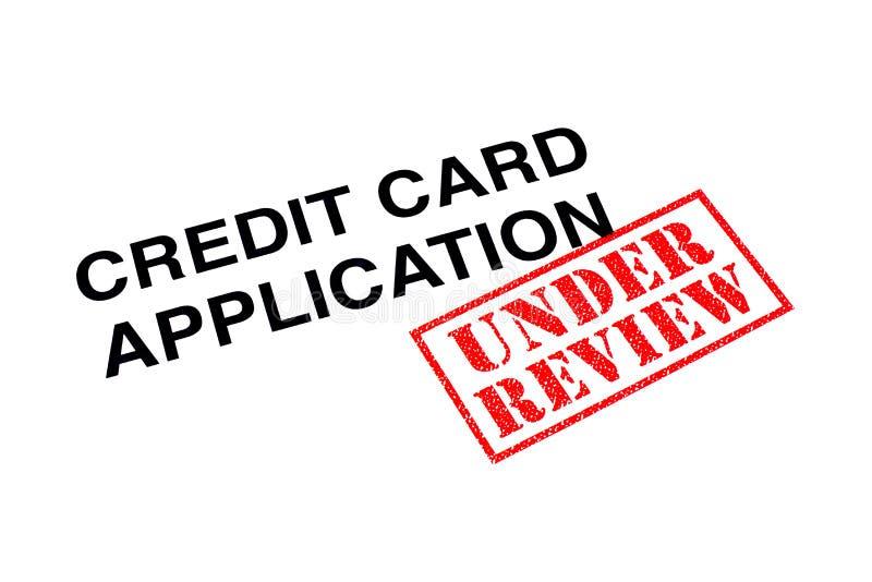 Creditcardtoepassing onder Overzicht stock fotografie