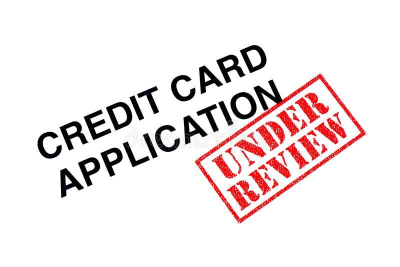 Creditcardtoepassing onder Overzicht stock afbeeldingen
