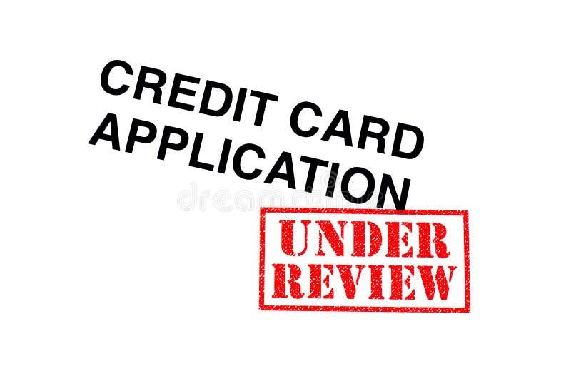 Creditcardtoepassing onder Overzicht royalty-vrije stock afbeeldingen