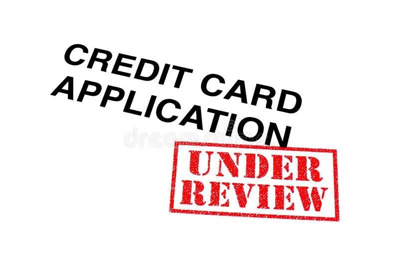 Creditcardtoepassing onder Overzicht stock foto's