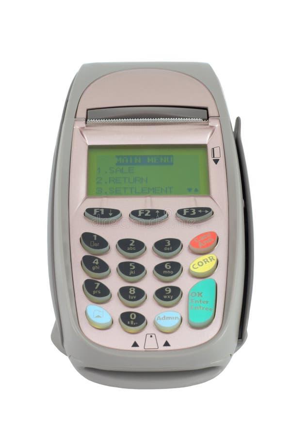 Crediteer machine (pos terminal) royalty-vrije stock foto