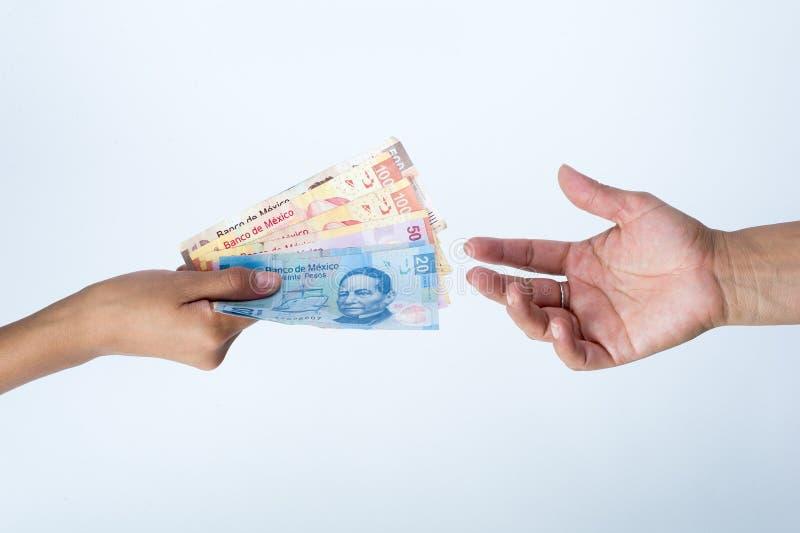 Crediteur veeleisende betaling van een lening aan de schuldenaar royalty-vrije stock foto's