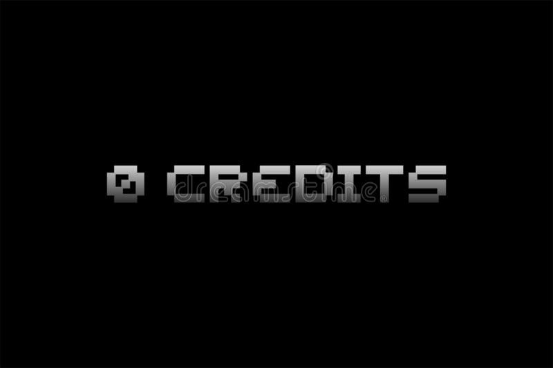 0 credits message. Creative design of 0 credits message vector illustration