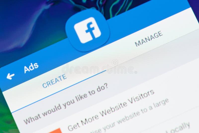 Cree el anuncio del facebook fotos de archivo libres de regalías