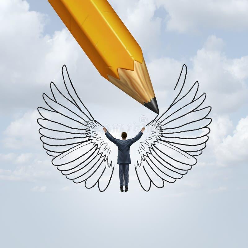 Cree el planeamiento del éxito ilustración del vector