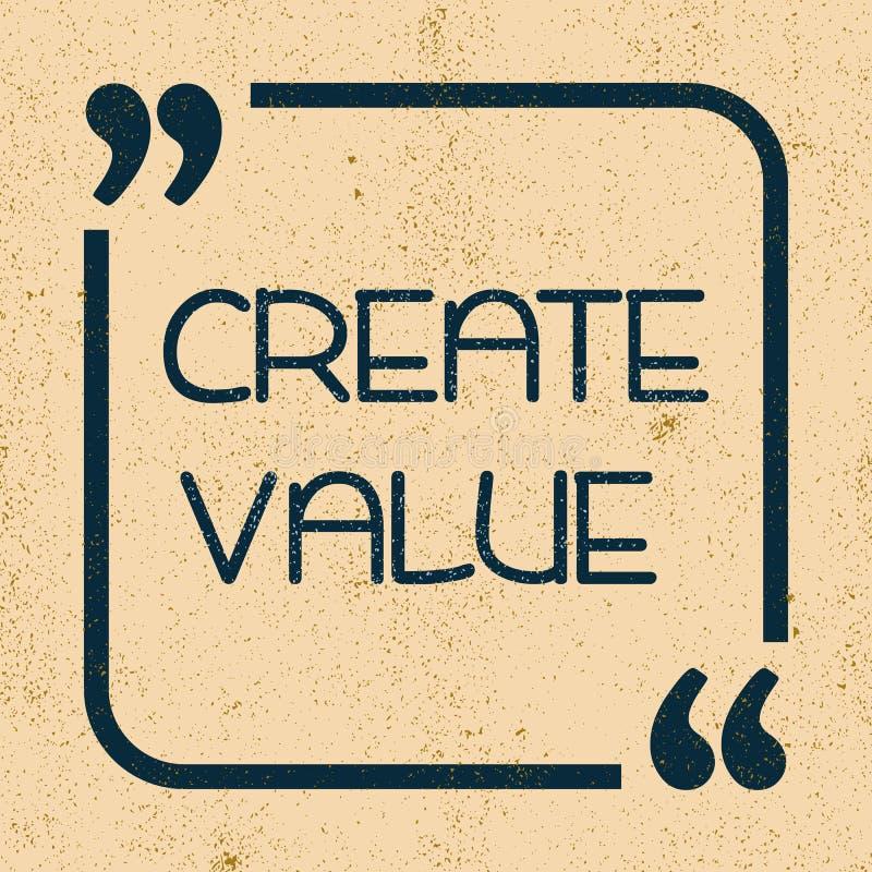 Cree el valor Cita de motivación inspirada Ilustración del vector stock de ilustración