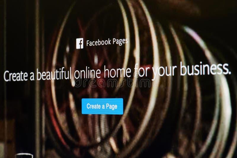 Cree la página del facebook fotografía de archivo libre de regalías