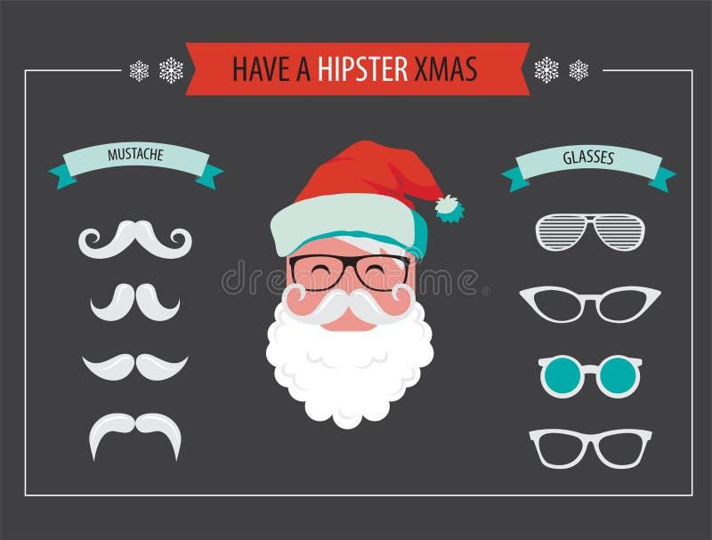 Cree su propia tarjeta de Santa Christmas del inconformista stock de ilustración