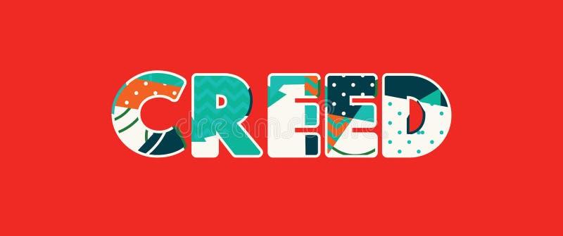 Creed Concept Word Art Illustration ilustração stock