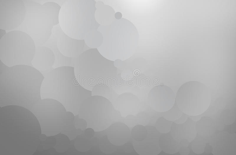 Creeer Abstracte grijze cirkel stock illustratie