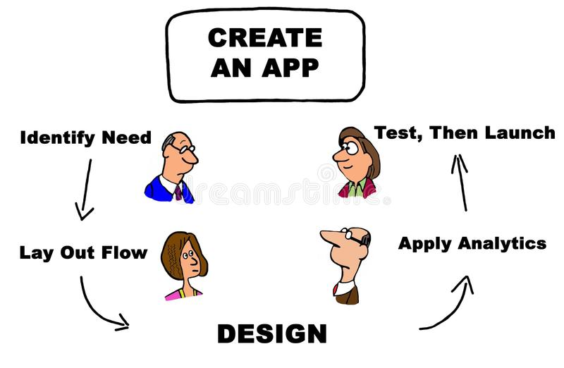 Creeer App royalty-vrije illustratie