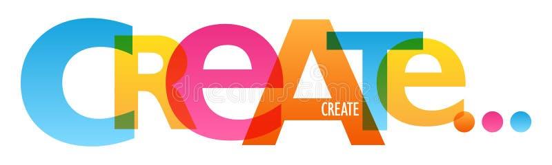 CREEER typografieaffiche vector illustratie