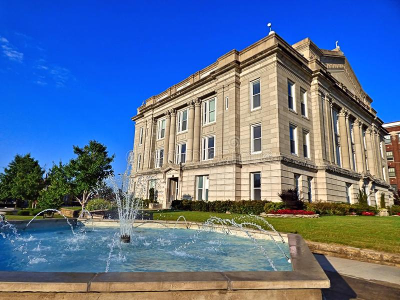 Creek County Courthouse. In historic downtown Sapulpa Oklahoma on Route 66 royalty free stock image