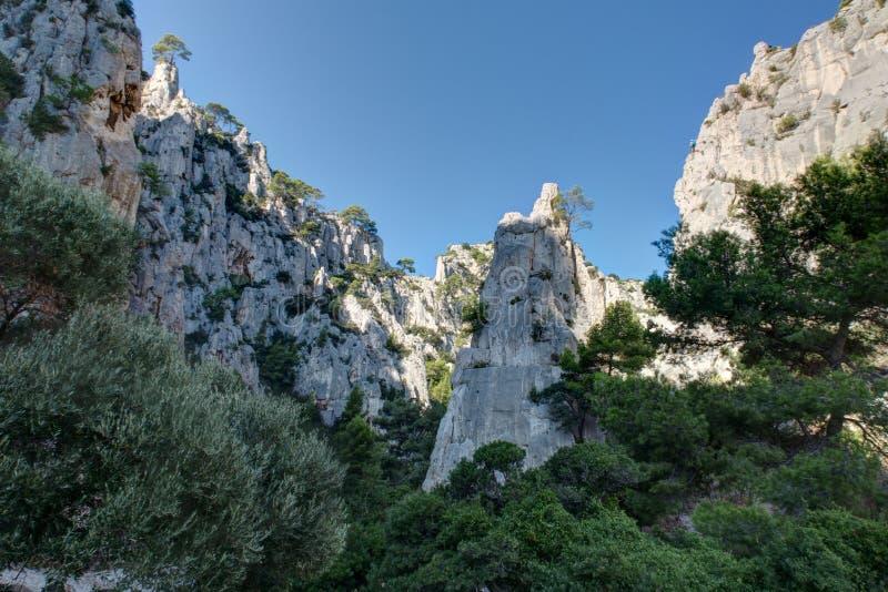 The Creek d'en-Vau près de cassis - Frances du Bouches-du-Rhône photographie stock
