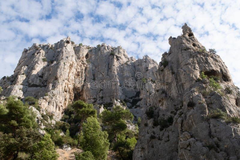 The Creek d'en-Vau près de cassis - Frances du Bouches-du-Rhône photos libres de droits
