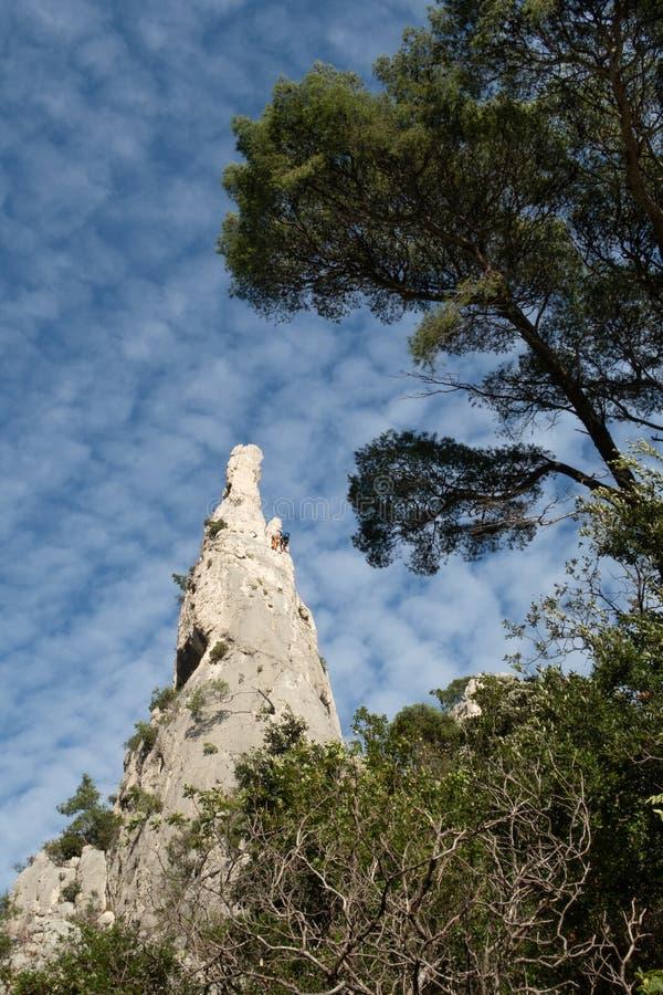 The Creek d'en-Vau près de cassis - Frances du Bouches-du-Rhône images libres de droits