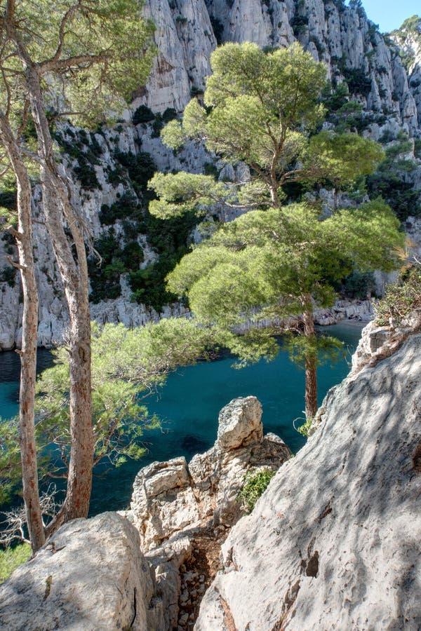 The Creek d'en-Vau près de cassis - Frances du Bouches-du-Rhône images stock