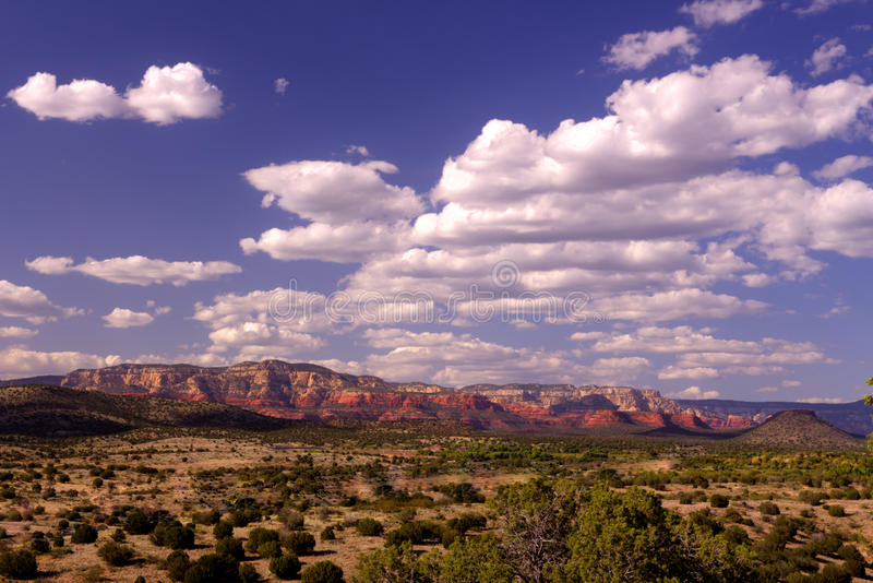 creek kanionu sławna jego dębowa czerwone skały piaskowcowego sedony zdjęcia royalty free
