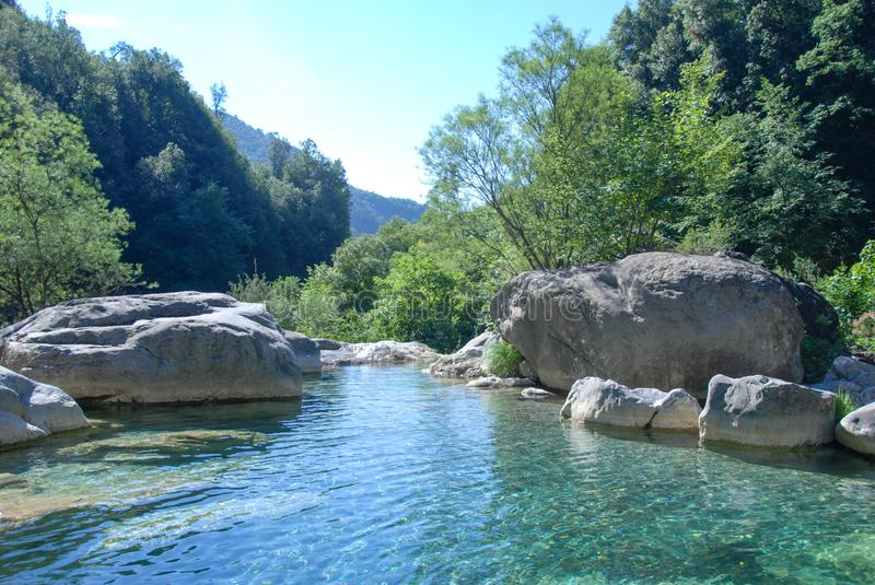 Creek Rio Barbaria - Liguria -Italy royalty free stock photos