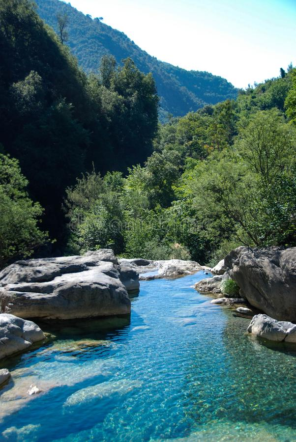 Creek Rio Barbaria - Liguria -Italy royalty free stock image