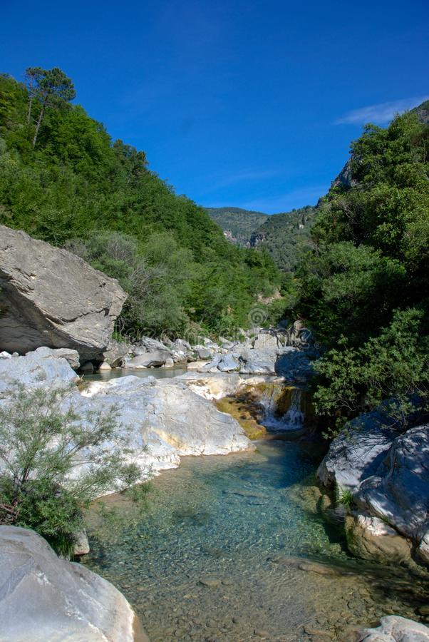 Creek Rio Barbaria - Liguria -Italy stock image