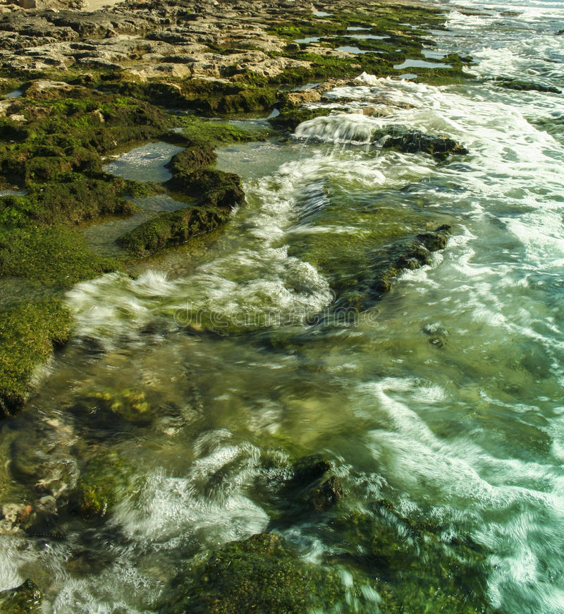 Creek with small waterfalls at Northern Cyprus stock photo