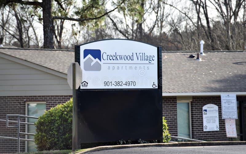 Creekwood wioski mieszkania, Memphis, TN obraz royalty free