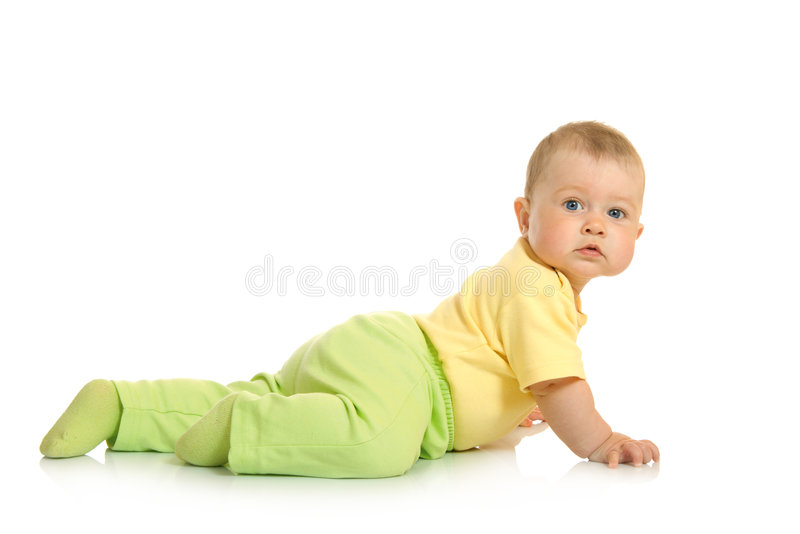 Download Creeping Small Baby Isolated Stock Photo - Image: 8149020