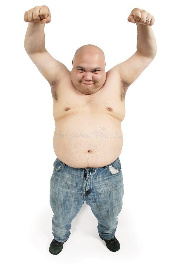 Creepy bald man stock image