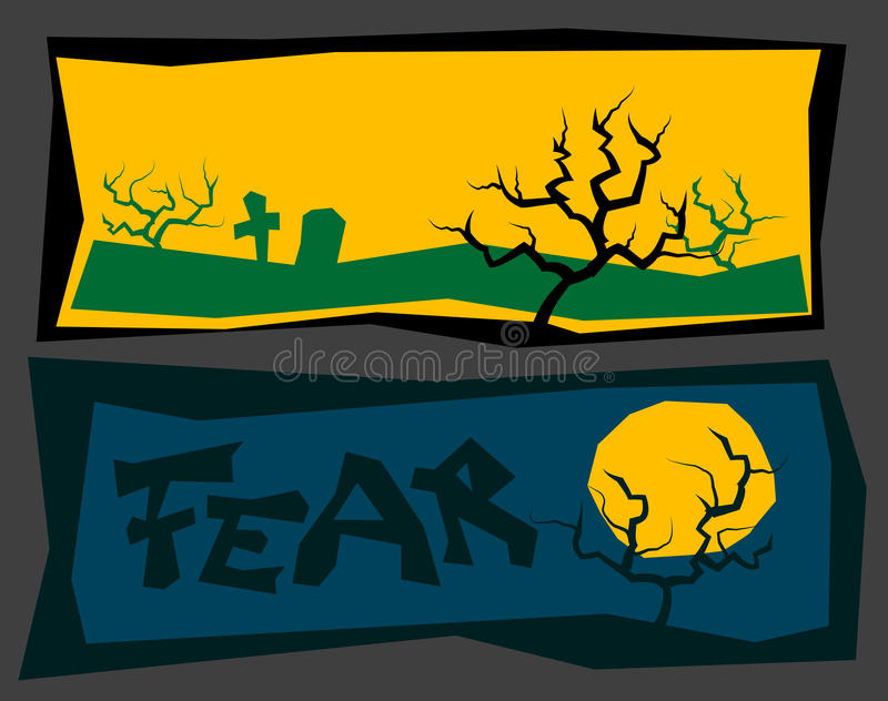 Creepy banners royalty free illustration