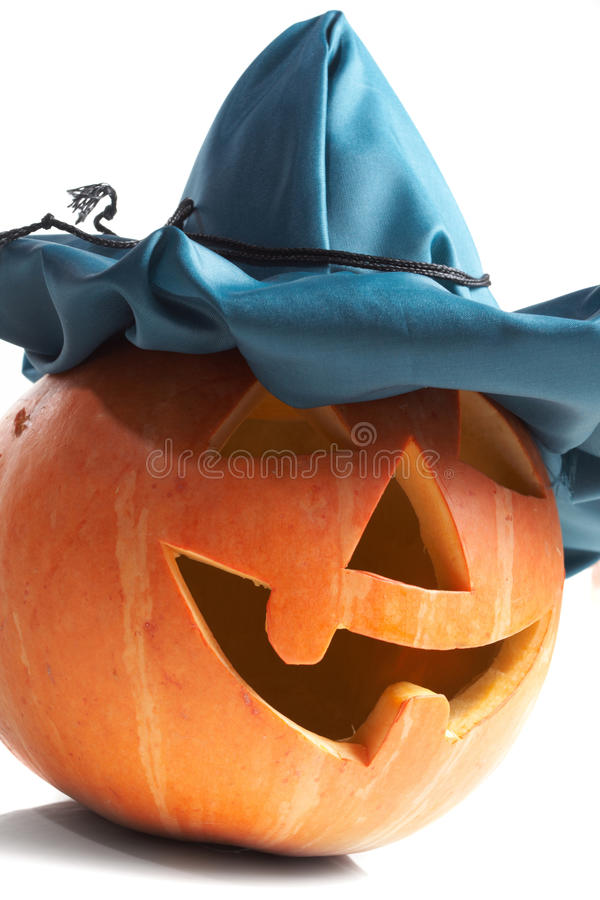 Download Creepy carved pumpkin face stock image. Image of isolated - 11535591