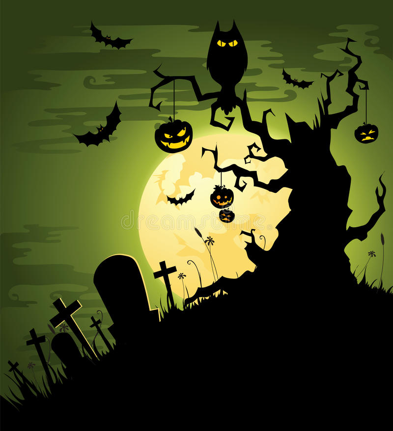 Download Creepy Green Halloween Background Stock Vector - Illustration: 26338768