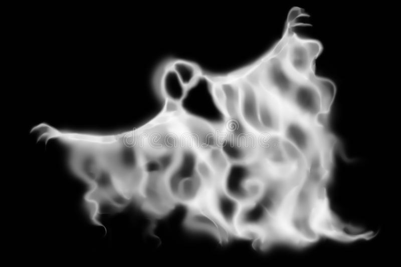 Creepy halloween ghost texture on black stock image