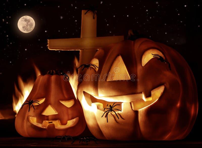 Creepy Halloween night stock image