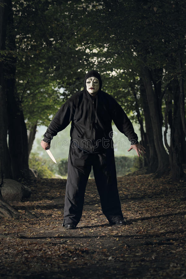 Download Creepy masked killer stock photo. Image of serial, fright - 33571360