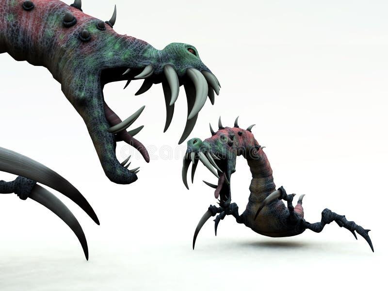 Download Creepy Monsters 1 stock illustration. Image of nasty, creepy - 3424422